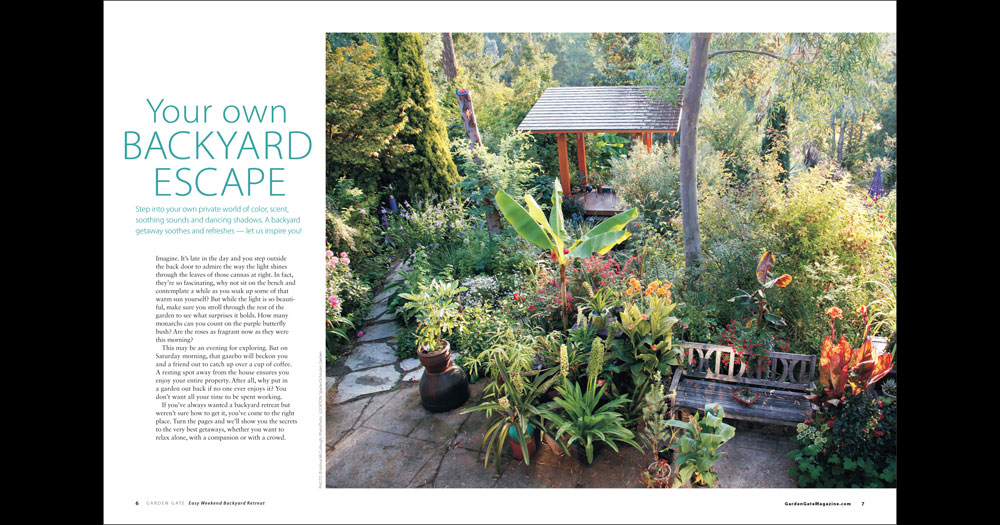 Garden Gate Magazine, Easy Weekend Backyard Retreats 2011